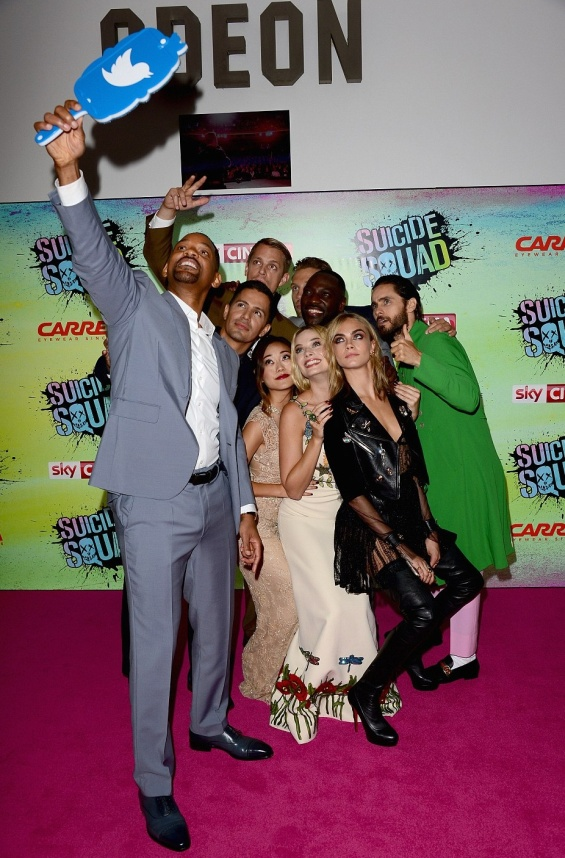 Ѕвездите не премиерата на Suicide Squad