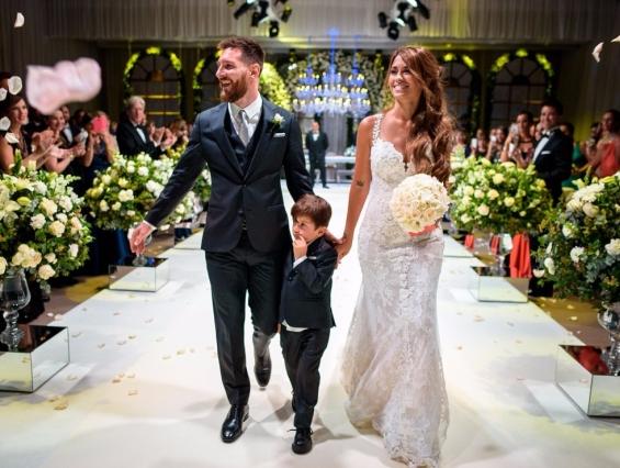 Свадбата на Лионел Меси и Антонела Рокуцо