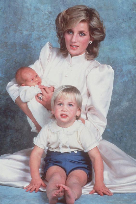 Дијана со принцот Вилијам и принцот Хари