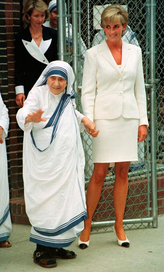 Дијана со Мајка Тереза